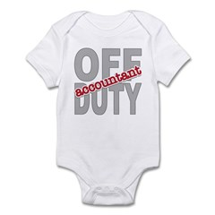Off Duty Accountant Infant Bodysuit