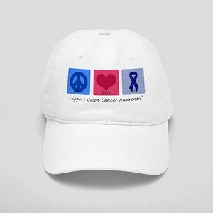 Peace Love Colon Cancer Cap