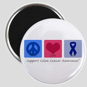 Peace Love Colon Cancer Magnet