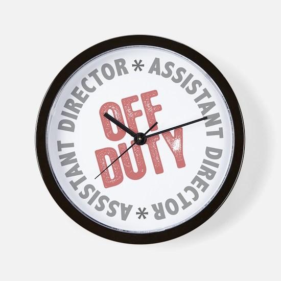 Off Duty Assistant Director Wall Clock