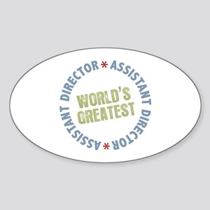 World's Greatest Assistant Director Oval Sticker