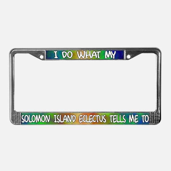 Do wht Solomon Island Eclectus License Plate Frame