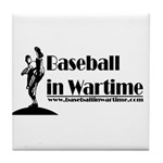 Baseball in Wartime Tile Coaster