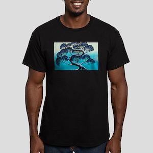 Blue Bonsai Serenity Men's Fitted T-Shirt (dark)