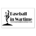 Baseball in Wartime Rectangle Sticker