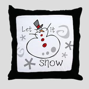 Let It Snow 2 Throw Pillow