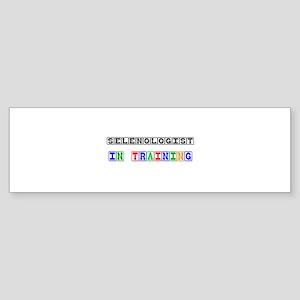 Selenologist In Training Bumper Sticker