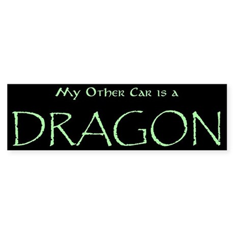 My other car is a dragon bumper bumper stickers