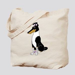 Smooth Tricolor Collie Tote Bag