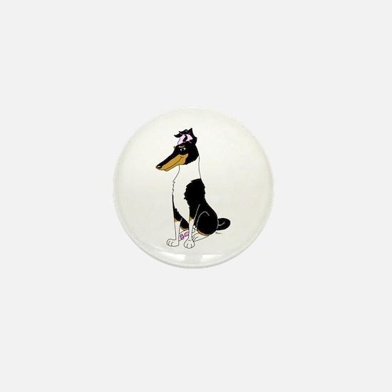 Smooth Tricolor Collie Mini Button