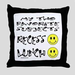 LUNCH AND RECESS Throw Pillow