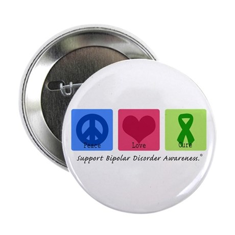 "Peace Love Bipolar 2.25"" Button (100 pack)"