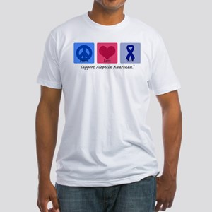 Peace Love Alopecia Fitted T-Shirt