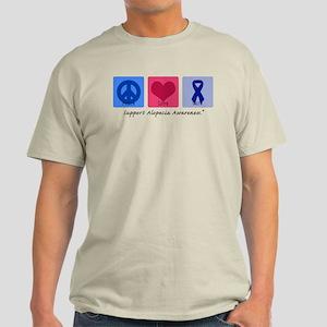 Peace Love Alopecia Light T-Shirt