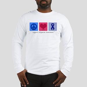 Peace Love Alopecia Long Sleeve T-Shirt