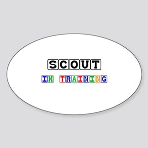 Scout In Training Oval Sticker