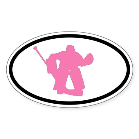 WOMEN'S HOCKEY Goalie Oval Sticker