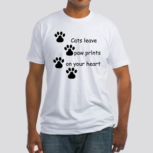 Cat Prints Fitted T-Shirt