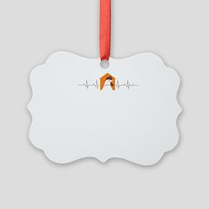 Chicken heartbeat Picture Ornament