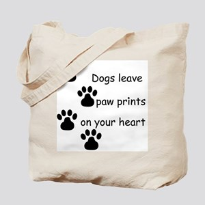 Dog Prints Tote Bag