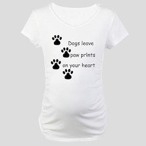 Dog Prints Maternity T-Shirt
