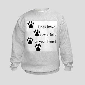 Dog Prints Kids Sweatshirt