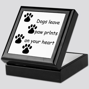 Dog Prints Keepsake Box