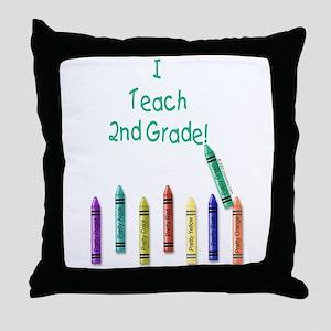 I Teach 2nd Grade! Throw Pillow