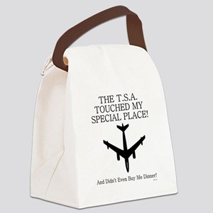 THE T.S.A TOUCHED..... Canvas Lunch Bag