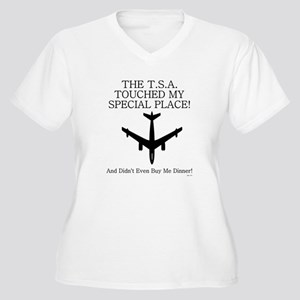 THE T.S.A TOUCHED..... Plus Size T-Shirt
