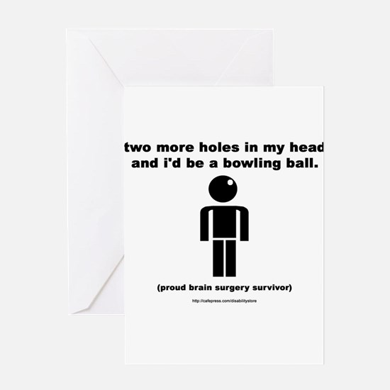 Two Holes Short of... Greeting Cards