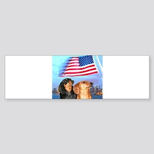 USA Dachshunds Bumper Sticker