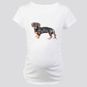 Lily Baby Dachshund Dog Maternity T-Shirt
