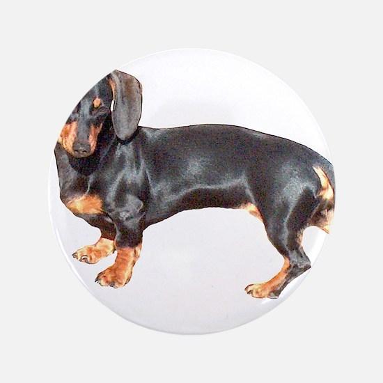 "Lily Baby Dachshund Dog 3.5"" Button"