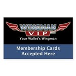 WingmanLaws.com Rectangle Sticker 50 pk)