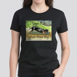 Yoga Down Dog Dachshund Women's Dark T-Shirt