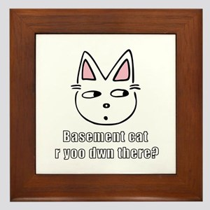 Basement Cat Framed Tile