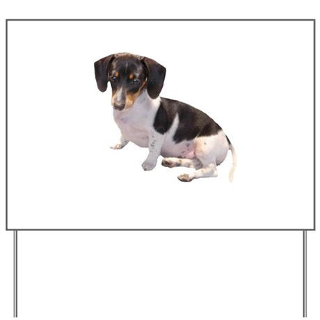 Black & White Doxie Yard Sign