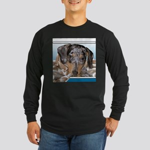 Speckled Dachshund Dogs Long Sleeve Dark T-Shirt