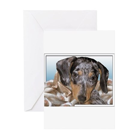 Speckled Dachshund Dogs Greeting Card