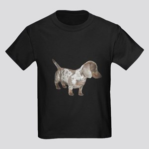 Speckled Dachshund Dog Kids Dark T-Shirt