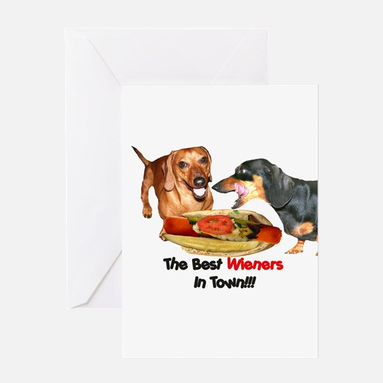 Best Wieners Dachshund Dogs Greeting Card
