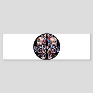 Celtic Double Dachshund Dogs Bumper Sticker