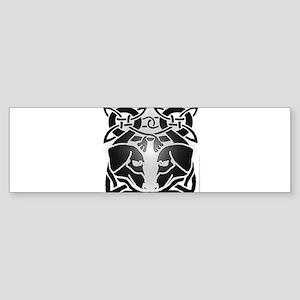 Celtic Dachshund dogs 6 Bumper Sticker