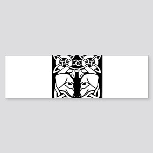 Celtic Dachshund Dogs 8 Bumper Sticker