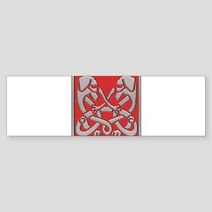 Irish Celtic Dachshund Dogs Bumper Sticker