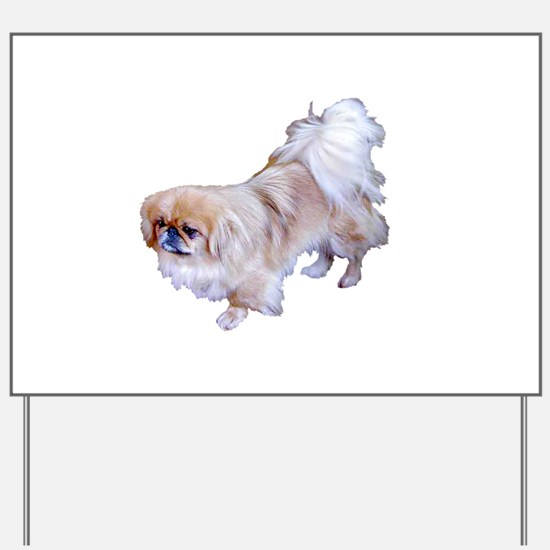 Pekingese Dog Yard Sign
