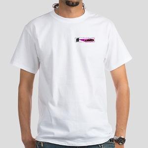 2G VFAQ Banner/Wireframe White T-shirt