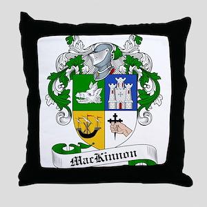MacKinnon Family Crest Throw Pillow