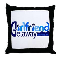 Girls Weekend Asheville Throw Pillow
